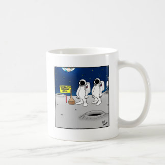 Funny Smoking in Space Cartoon Gifts Coffee Mug