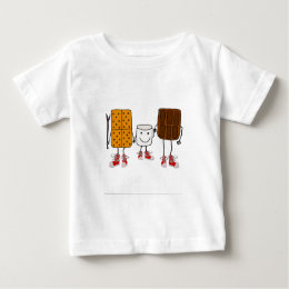 Funny Smores Characters Cartoon Baby T-Shirt