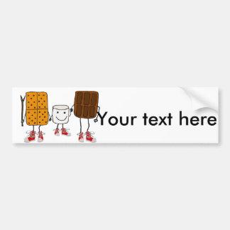Funny Smores Characters Cartoon Bumper Sticker