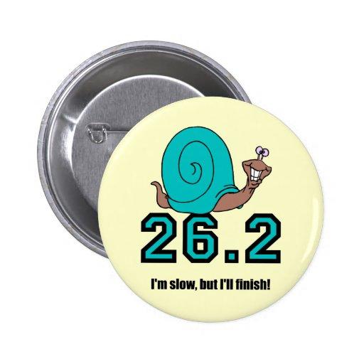 Funny snail marathon 2 inch round button