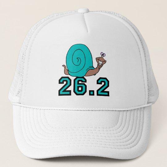 Funny snail marathon trucker hat