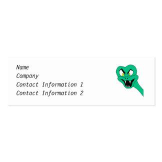Funny Snake Cartoon. Mini Business Card