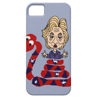 Funny Snake Squeezing Hillary Cartoon iPhone SE/5/5s Case
