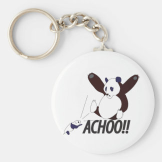 Funny Sneezing Panda Key Chain