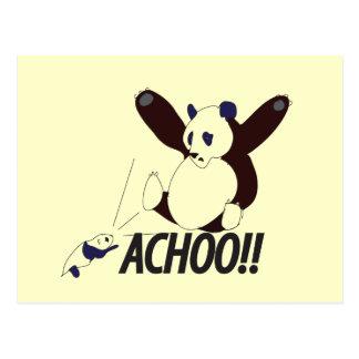 Funny Sneezing Panda Post Cards