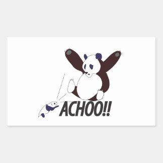 Funny Sneezing Panda Rectangular Sticker