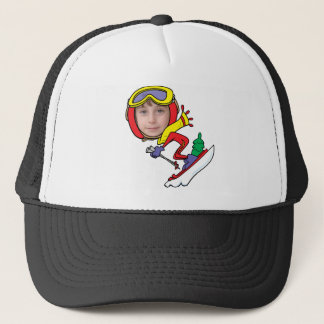 Funny Snow Skier Photo Face Template Trucker Hat