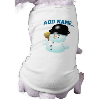 Funny Snowman Cartoon With Button Eyes Shirt