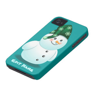 Funny Snowman iPhone 4 Case