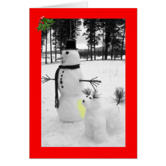 Funny snowman Christmas Greeting Card