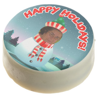 Funny Snowman Customized With Your Photo Chocolate Dipped Oreo