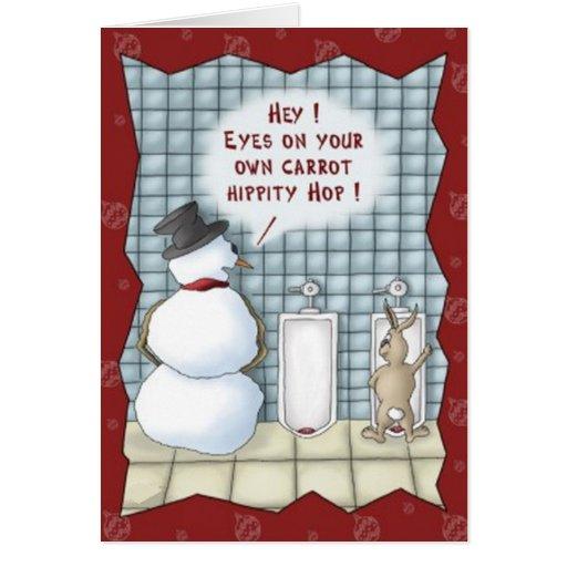 Funny Snowman Easter Bunny Christmas...