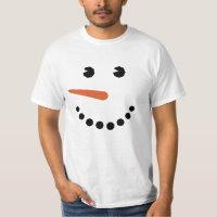 Funny Snowman Face T-shirt