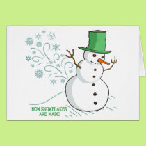Funny Snowman Farts Snowflakes Card