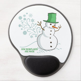 Funny Snowman Farts Snowflakes Gel Mouse Pad