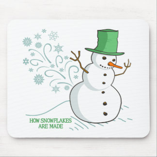 Funny Snowman Farts Snowflakes Mouse Pad