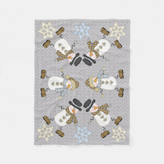 Funny Snowman Fleece Blanket