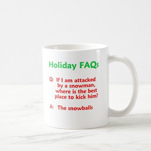 Funny Snowman Holiday Novelty Mug