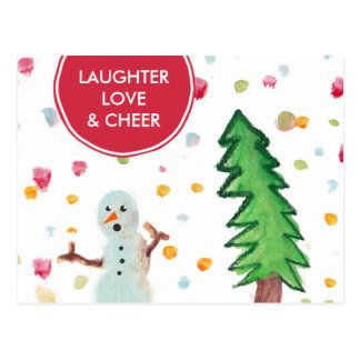 Funny Snowman Holiday Post Card