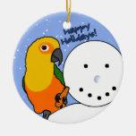 Funny Snowman Jenday Conure Ornament