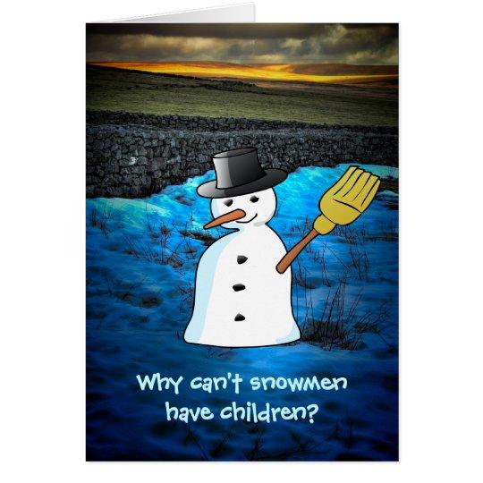 Funny Snowman Joke Card
