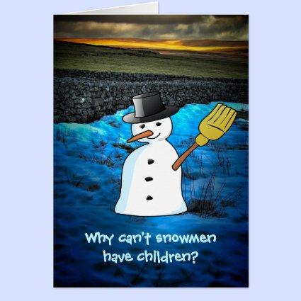 Funny Snowman Joke Greeting Card