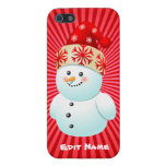 Funny Snowman Kid Cartoon Cover For iPhone SE/5/5s
