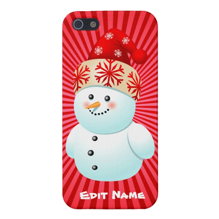 Funny Snowman Kid Cartoon Cover For iPhone SE/5/5s : Zazzle