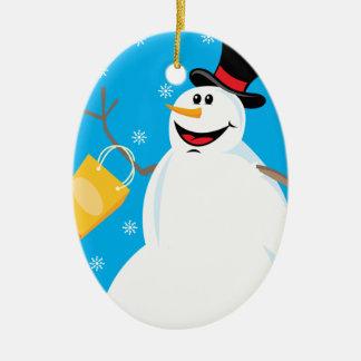 Funny Snowman Ornament