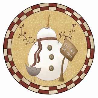 Funny Snowman Ornament photosculpture