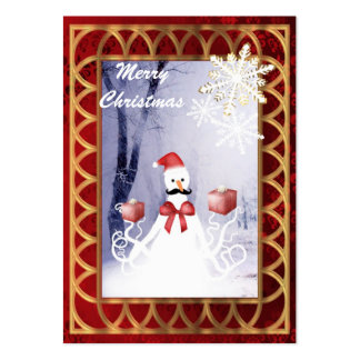 Funny  snowman Santa octopus Christmas Large Business Card
