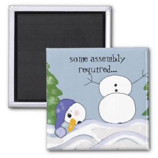 Funny Snowman Scene Magnet