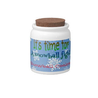 Funny Snowman Snowball Fight Christmas gifts Candy Jars
