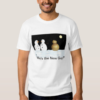 funny snowman tee shirt