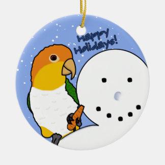 Funny Snowman White Bellied Caique Ornament