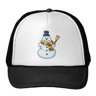 funny snowman winter holiday mesh hats