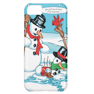 Funny Snowman with Hot Chocolate Cartoon iPhone 5C Cover