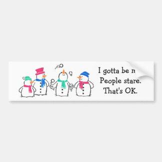 Funny Snowmen Bumper Sticker