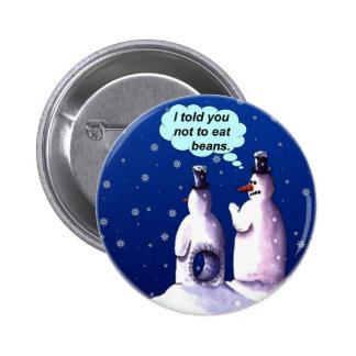 Funny Snowmen Cartoon 2 Inch Round Button
