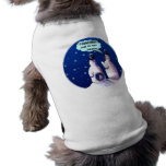 Funny Snowmen Cartoon Dog T-shirt