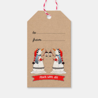 Funny Snowmen Custom Christmas Gift Tags Pack Of Gift Tags