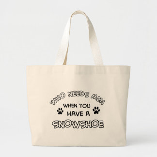 Funny snowshoe designs tote bag