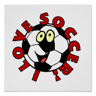 Funny Soccer Ball T shirts and Gifts Poster
