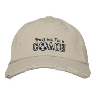 Funny Soccer Coach Embroidered Baseball Hat