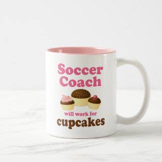 Funny Soccer Coach Two-Tone Coffee Mug
