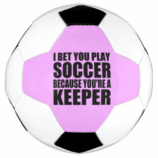 Funny Soccer Goal Keeper Quote Soccer Ball