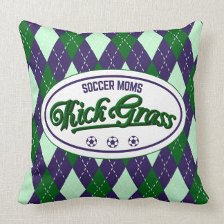 Funny Soccer Mom Throw Pillow