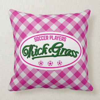 Funny Soccer Player Throw Pillow