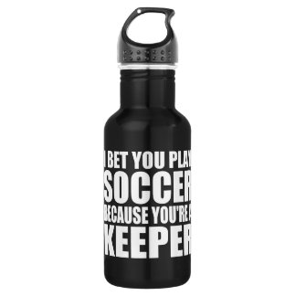 Funny Soccer Quote Water Bottle