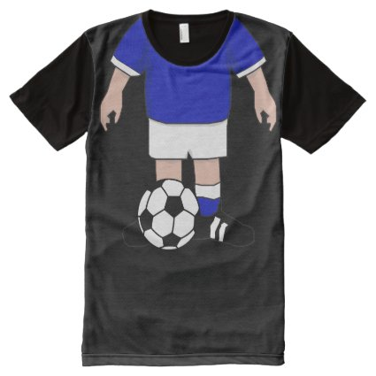 Funny soccer tee Just add your head All-Over Print T-shirt